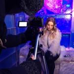 Jégtömbök közé zárva forgatott videót Cserpes Laura